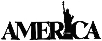 America Scrapbooking Laser Cut Title with The Statue Of Liberty