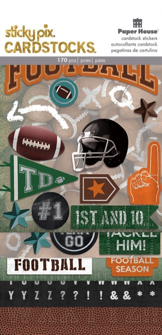 American Football Scrapbooking Sticker Multi Pack