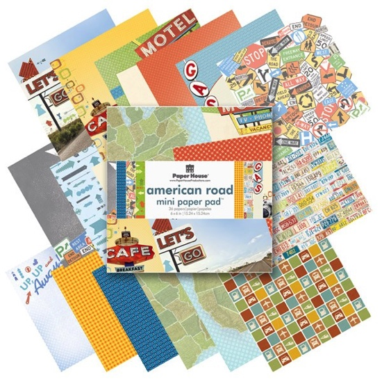 American Road Mini Scrapbooking 36 Page Paper Pad