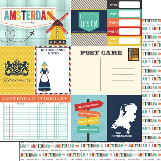 Amsterdam Journal 12x12 Double Sided Scrapbooking Paper