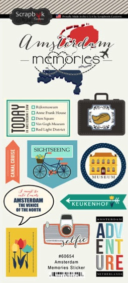 Amsterdam Memories Scrapbooking Stickers