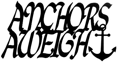 Anchors Aweigh Scrapbooking Laser Cut Title with anchor