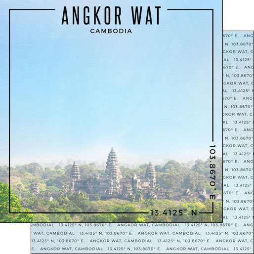 Angkor Wat 12x12 Double Sided Scrapbooking Paper