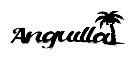 Anguilla  Scrapbooking Laser Cut Title with Palm Tree