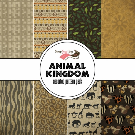Animal Kingdom 12x12 Scrapbooking Paper Pack