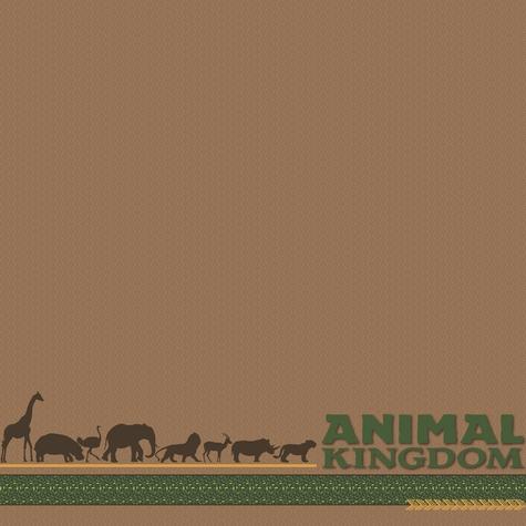 Animal Kingdom 12x12 Scrapbooking Paper