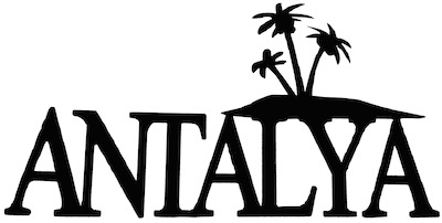 Antalya Scrapbooking Laser Cut Title with Palm Trees