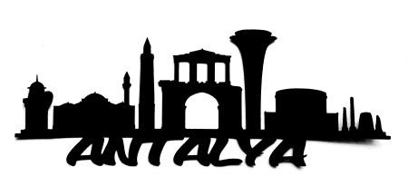 Antalya Scrapbooking Laser Cut Title with skyline