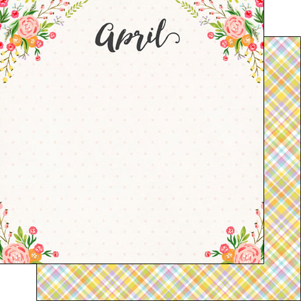 April 12x12 Double Sided Scrapbooking Paper