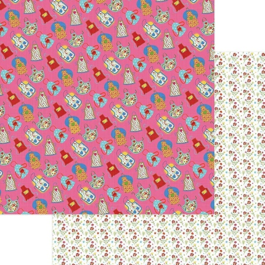 Apron Strings 12x12 Double Sided Scrapbooking Paper