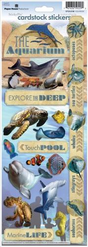 Aquarium Cardstock Scrapbooking Stickers