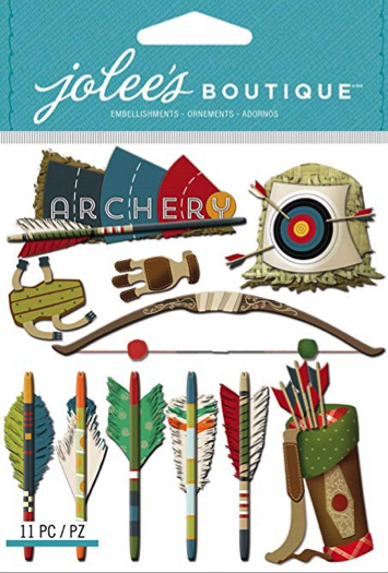 Archery Jolees 3D Scrapbooking Stickers