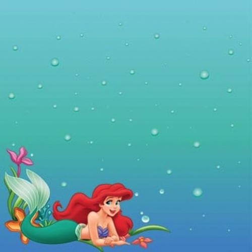 Ariel Image 12x12 Scrapbooking Paper