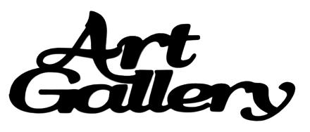 Art Gallery Scrapbooking Laser Cut Title