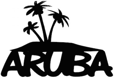 Aruba Scrapbooking Laser Cut Title With Palm Trees