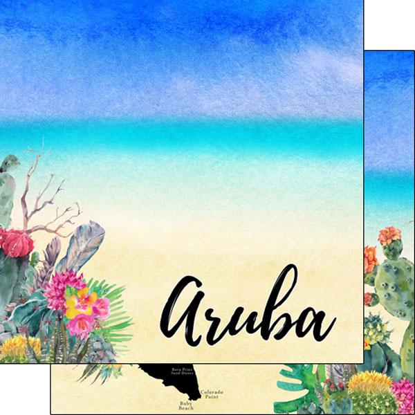 Aruba Getaway 12x12 Double Sided Scrapbooking Paper