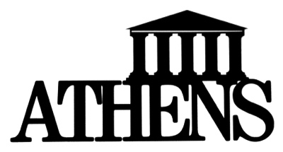 Athens Scrapbooking Laser Cut Title with Parthenon