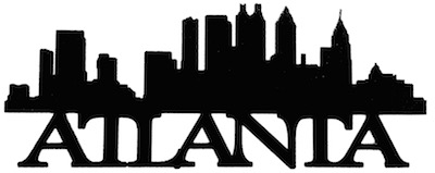 Atlanta Scrapbooking Laser Cut Title with Skyline