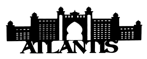 Atlantis Scrapbooking Laser Cut Title with Dubai Hotel