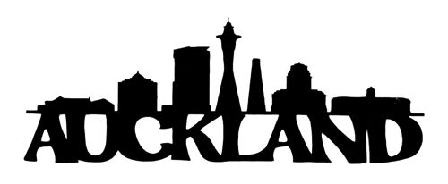 Auckland Scrapbooking Laser Cut Title with Skyline