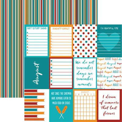 Plan it August 12x12 Double Sided Scrapbooking Paper