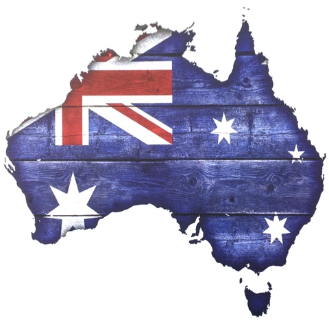 Australia Flag Map 12x12 Scrapbooking Paper