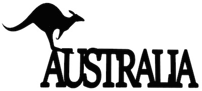 Australia Scrapbooking Laser Cut Title with Kangaroo