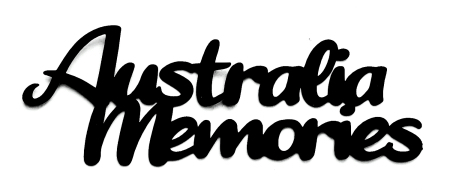 Australia Memories Scrapbooking Laser Cut Title