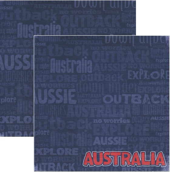 Australia 12x12 Double Sided Scrapbooking Paper