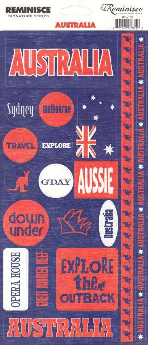 Australia Phrase Cardstock Scrapbooking Stickers