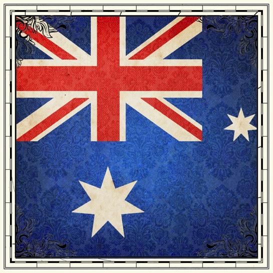 Australia Flag 12x12 Scrapbooking Paper