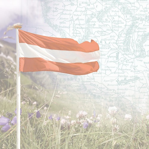 Austria Map and Flag 12x12 Scrapbooking Paper