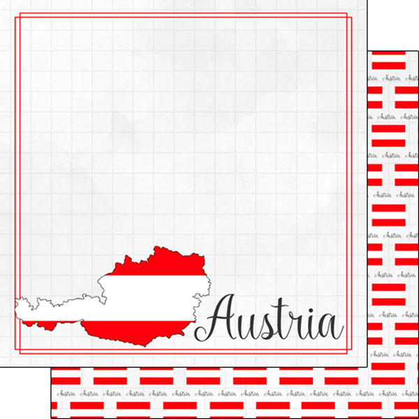 Austria 12x12 Double Sided Scrapbooking Paper