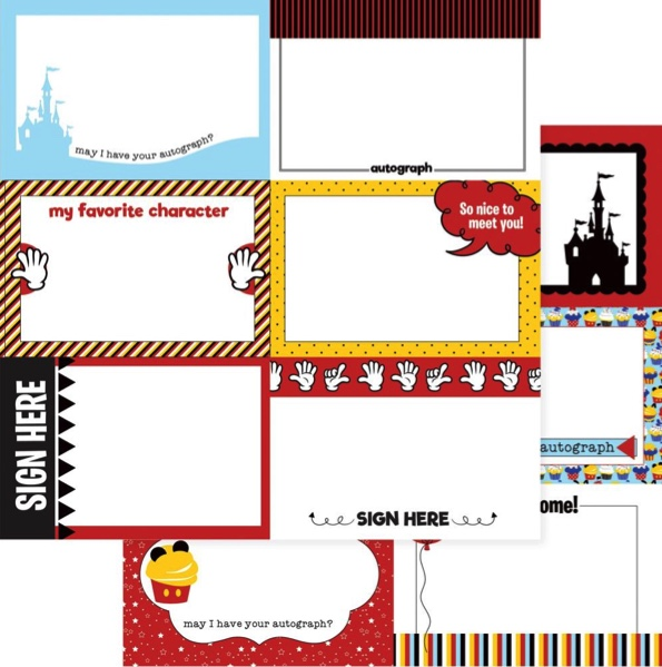 Autograph Cards and Journaling Double Sided 12x12 Scrapbooking Paper