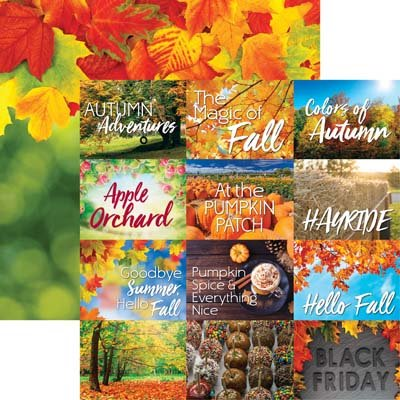 Autumn Fun Double Sided Scrapbooking Paper