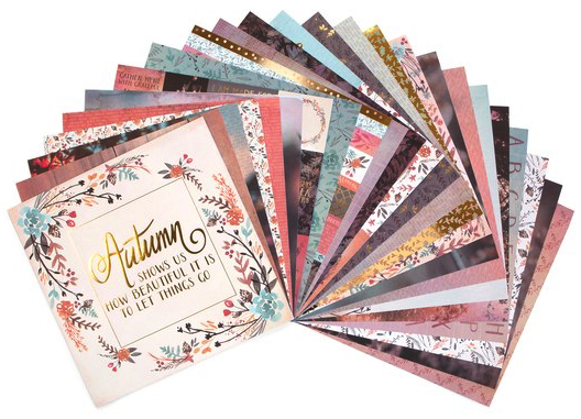 Autumn Dream Scrapbooking Pack - 24 sheets of 12x12 Paper