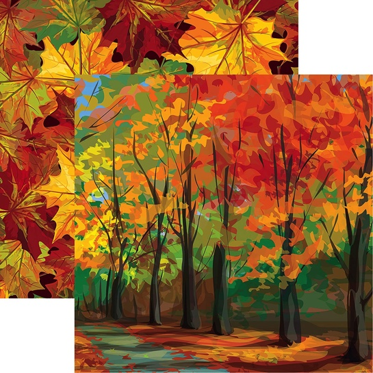 Autumn Trail 12x12 Double Sided Scrapbooking Paper