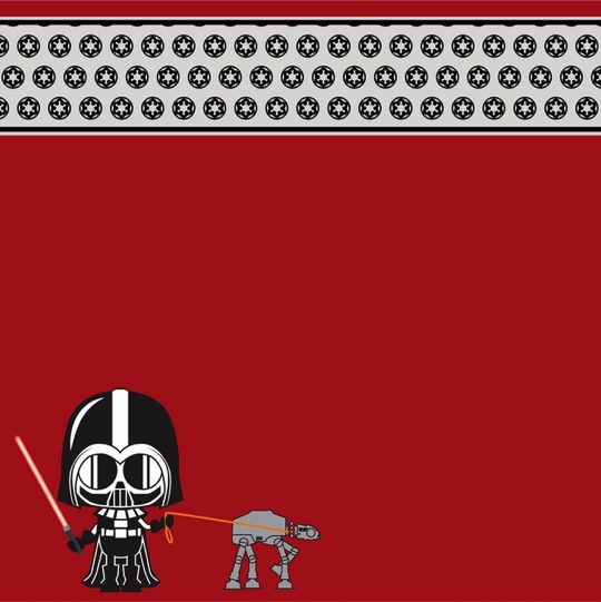 Little Darth Vader Star Wars 12x12 Scrapbooking Paper