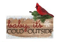 Baby its Cold Outside Glitter Die Cut Scrapbooking Sticker