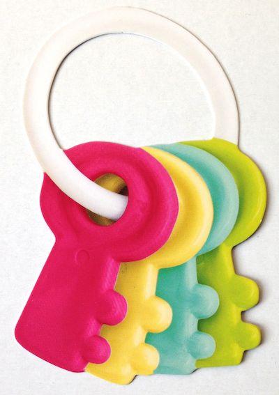 Baby Keys Toy Scrapbooking Die Cut