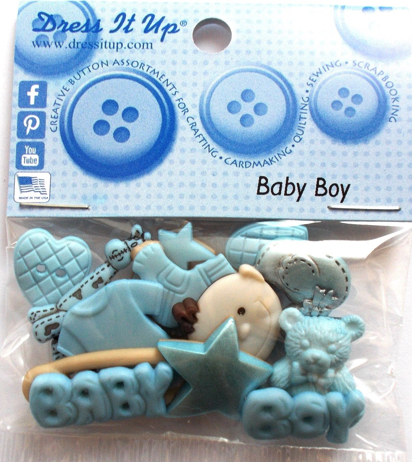 Baby Boy Scrapbooking Buttons