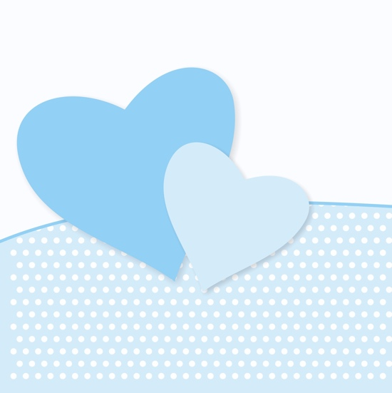 Blue Hearts 12x12 Scrapbooking Paper