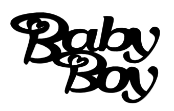 Baby Boy Scrapbooking Laser Cut Title