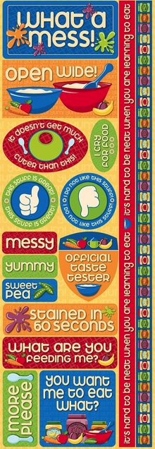 Baby Food Cardstock Scrapbooking Stickers and Borders