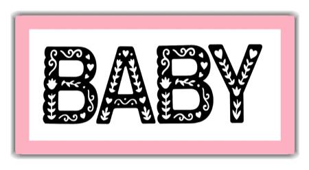 Baby Girl Frame