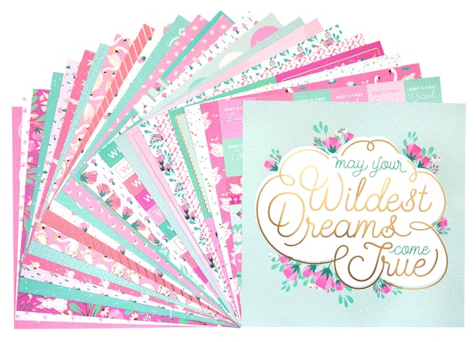 Baby Girl Scrapbooking Pack - 24 sheets of 12x12 Paper