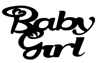Baby Girl Scrapbooking Laser Cut Title