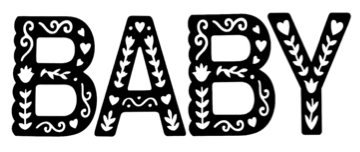 Baby Intricate Letter Laser Cuts