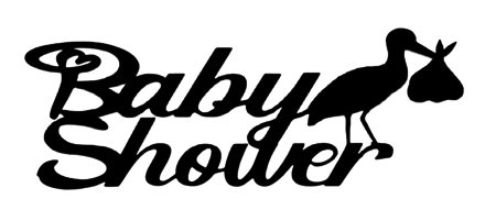 Baby Shower Scrapbooking Laser Cut Title with Stork