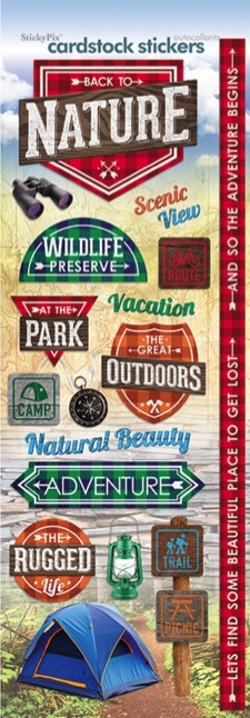 Back to Nature Cardstock Scrapbooking Stickers